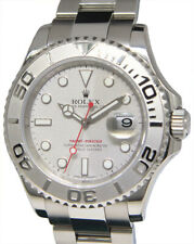 Rolex Yacht-Master Steel & Platinum Mens 40mm Automatic Watch Box/Card M 16622