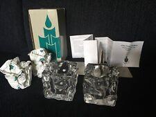 Partylite P0279 Pair Candle Holders Glacier ~ Square Design ~ Votive box paper