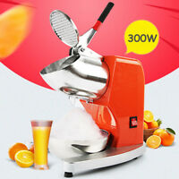 300W Electric Ice Crusher Shaver Commercial Machine Snow Cone Maker Bowl  US