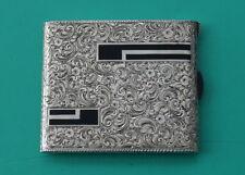 Art Déco  Zigarettenetui  Silber Emaille 160 Gr.  Germany  enamel cigarette case