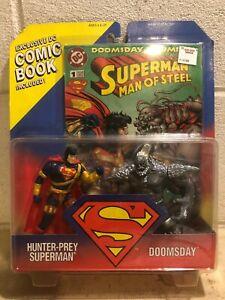 DC Comics Superman Man of Steel Action Figure Hunter-Prey Superman vs. Doomsday
