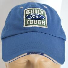 Built FORD Tough Licensed Hat Blue Baseball Ball Cap Lid Pickup Truck Adjustable