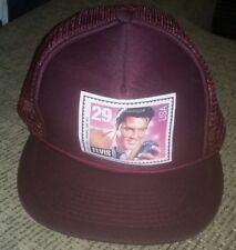 1992 ELVIS PRESLEY USPS STAMP HAT Baseball Cap MAROON mesh snapback trucker NEW!