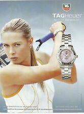 Celebs in Ads - TAG HEUER Maria Sharapova Watch Print Ad # 00 6