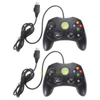 2 pack/lot Black Wired Controller Game Pad Joypad for Microsoft XBOX S Type 2