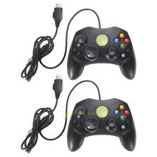 Lot 2/ A Pair Black Wired Controller Game Pad for Microsoft XBOX S Type 2