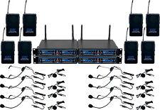 VocoPro UDH-PLAY 8  8-Ch, 900 Mhz, UHF/DSP Hybrid Bodypack Wireless Mic System