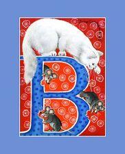 "Alphabet Cat ACEO Print Letter ""B"" by I Garmashova"