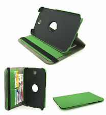 """Green Matt Textile Rotating Case Cover Stand Samsung GT-N5100 Galaxy Note 8.0"""""""