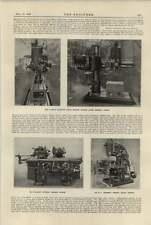 1920 Norton Universal Grinding Herbert Vertical Milling Machines
