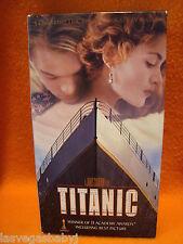 Titanic VHS ~ 2 Cassettes ~ 1997 ~ Leonardo DiCaprio ~ Kate Winslet ~Kathy Bates