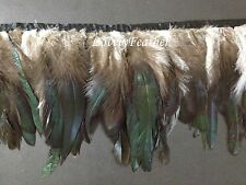 Coque feather fringe of natural irridescent colour 10 yards trim