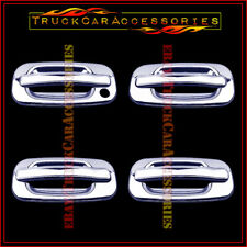 For GMC Sierra 1999-2002 2003 2004 2005 2006 Chrome 4 Door Handle Covers W/OUT