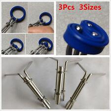 3Pcs 3 Sizes Steel Hydraulic Cylinder Piston Rod Seal Up U-cup Installation Tool
