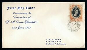 Northern Rhodesia - 1953 QE2 Coronation Illustrated First Day Cover