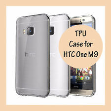 Ultra Slim Gel Case Thin Soft TPU Cover + Screen Protector for HTC One M9