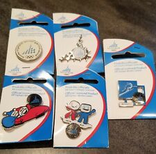 2006 Torino Olympic Pins Set of 5 BRAND NEW FREE SHIPPING