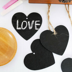 Creative Mini Wedding Decoration Love Heart Small Square Chalkboard MessageBoard