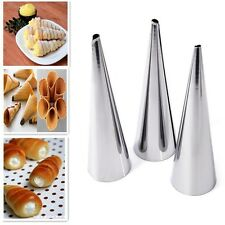 Stainless Steel Spiral Baked Mould Croissants DIY Baking Tools for Cream Horns