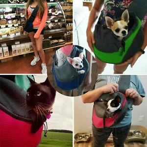 Travel Pet Dog Carrier Backpack Shoulder Tote Bag Mesh Sling Pet Transport Bag