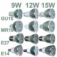 Ultra brilhante Cree MR16/GU10/E27/E14 9W 12W 15W pode ser escurecido Led Spotlight Bulbos