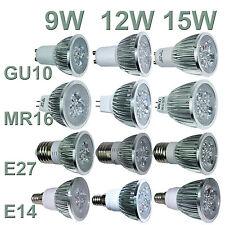 Ultra brilhante Cree MR16/GU10/E27/E14 9W 12W 15W pode ser escurecido Led Spotlight Bulbos