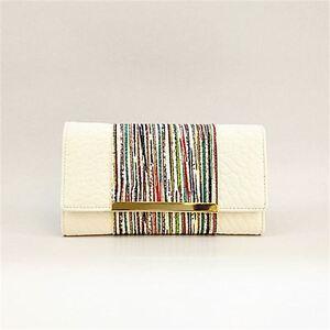 Colour Panel Zipper Buckle Purse ID Window Card Slot Wallet Womens Simple Pink