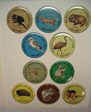 BOY SCOUT 1987-88 WORLD JAMBOREE AUSTRALIA SUB CAMP BUTTON PINS SET OF 10
