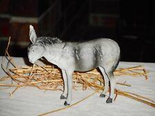 Antique Putz Donkey Grey Stick Leg Donkey Nice Color German Nativity Figure