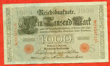 Germany 1910.Banknote 1000 marks.Red stamp. VF.