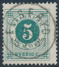 Sweden Scott 43/Facit 43a, 5ö green Ringtyp PH, F Used FLISERYD cancel, LYX