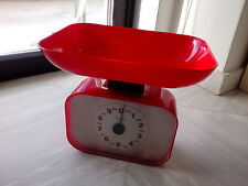 vintage kitchen scale red plastic