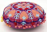 "16"" Indian Cotton Suzani Hand Embroidered Pillow Cases Cushion Cover Uzbek Duvet"