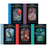 A Series of Unfortunate Events Series 5 Books Collection Set By Lemony Snicket N