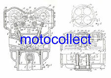 DUCATI 851.888.916.996.998.999.1098.1198 Desmo Engine - Patent Drawing.A3 print