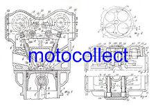 DUCATI 851.888.916.996.998.999.1098.1198 Desmo engine-patente dibujo impresión.A3