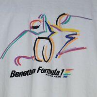 Vintage United Colors Benetton Formula 1 Racing Team T-Shirt XL USA Tee