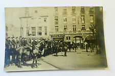 Wonderful WW1 Real Photo Postcard Soldiers on Horses on Parade