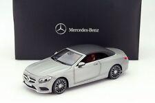 NOREV Mercedes S-Class Convertible (A217) Matt Silver 1:18 DEALER EDITION*New!