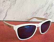 Nuevo sin Etiqueta Oakley Polarizados Frogskins Gafas de Sol Blanco Monturas /