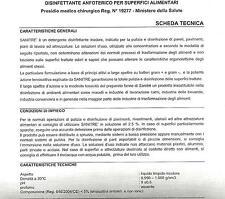 PRODOTTO PER SANIFICAZIONE PROFESSIONALE CERTIFICATO, BOCCIONI REFRIGERATORI