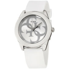 Guess G Twist White Dial Silicone Strap Ladies Watch W0911L1