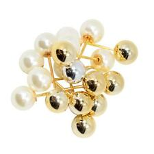 30 Pieces Women Double Imitation Pearls Brooches Pin Buckle Bridal Jewelry