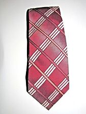 Wemlon by Wembley Neck Tie Burgundy/White Striped Great Father's Day Gift 4in.