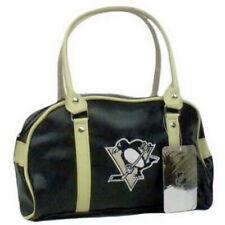 PITTSBURGH PENGUINS NHL LICENSED FASTLANE BAG PURSE HANDBAG STYLIST BAG