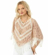 cc2b28037794b NWT O Neill Medium RAYLA PONCHO Crochet Summer Beach Swim Cover Up Top  Shirt  59