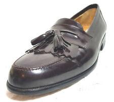 MEZLAN Men Loafer/slipon Dress Shoes 8 1/2M Burgundy leather kiltie tassel solid