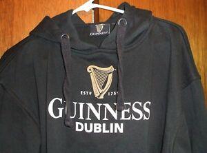 Guinness Dublin Black Pullover Hoodie - Men's Size Medium - Excellent Condition