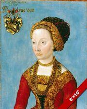 RENAISSANCE ERA PORTRAIT OF A NOBLE WOMAN PAINTING ITALY ART REAL CANVASPRINT