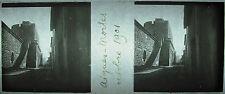 Plaque photo stéréoscopique photographie rue de Aigues Mortes en octobre 1901